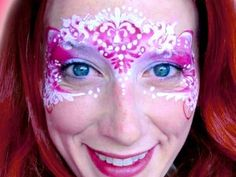 Valentine's Day Princess Face Paint VIDEO Tutorial—Face Painting Tips Shop