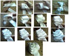 Paso a paso para hacer esta bella flor en tela o cinta.