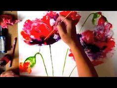 Рисование маков акварелью poppies watercolour - YouTube