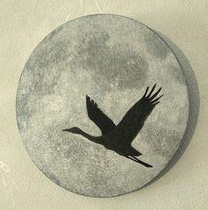 """""""Luna"""". Akryyli puuvillakankaalle, halkaisija 20 cm / Acrylics on a cotton canvas, diameter 20 cm, 2018"""