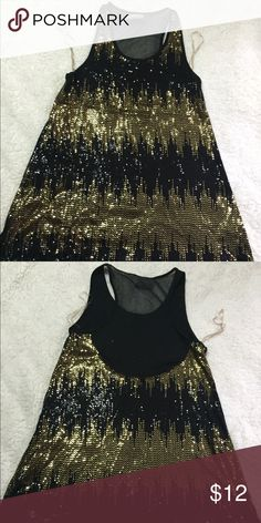 Sequined tank shirt Sequined tank shirt Romeo & Juliet Couture Tops Tank Tops