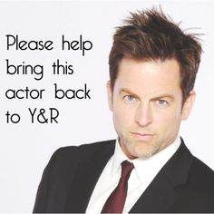 Michael Muhney bring Michael back. Adam Newman, Soap Stars, Young And The Restless, Soaps, All About Time, Musicians, Believe, Lion, Drama