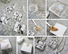 DIY - Pingentes com foto | Estúdio Bix