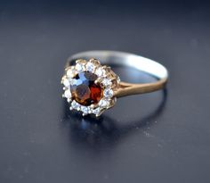Cocktail Ring Sterling Silver Ring Topaz Ring by LKArtChic on Etsy