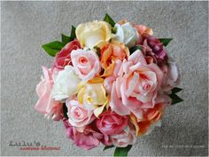 Silk and Floramatique Mixed Roses Bridal by LulusAwesomeBlossoms, $200.00
