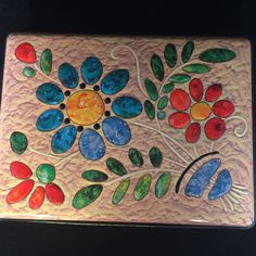 Carrs of Carlisle England Hinged Tin with Raised Flower Design | eBay