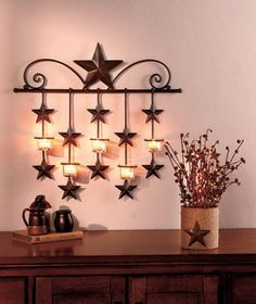 Light your home with the country charm of the Rustic Star Home Decor. Accessories incorporate light into the design for a piece that is both beautiful and funct