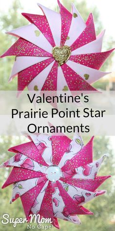 Give a handmade gift to show your love this Valentine's Day. These beautiful Valentine's Prairie Point Star Ornaments are just one of 5 last minutes gifts you can sew up in lots of time before the 14th. Links to the complete step-by-step tutorials provided. #sewing #tutorials #sewingtutorials #sewingprojects #DIYgiftideas #giftideas #valentines #valentinesday #valentinesdaygiftideas #teachergifts