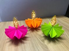 Diy How to make Paper Diya | Diwali Decoration Ideas at Home - YouTube