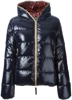 Duvetica 'Thia' padded jacket, Navy blue down 'Thia' padded jacket from Duvetica.