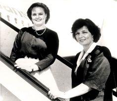 Margareta şi Sofia oe Aeroportul Otopeni  – foto: Casa Regală