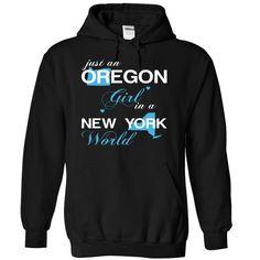 (ORJustXanh001) Just An Oregon ᗑ Girl In A New_York WorldIn a/an name worldt shirts, tee shirts