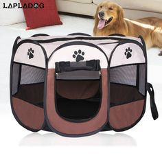 Feroni HOT Portable Folding Pet tent Dog House Cage Dog Cat Tent Playpen Puppy Kennel Easy Operation Octagonal Fence outdoor supplies ** Sincerely hope you actually love our image. (This is an affiliate link) Outdoor Cat Cage, Outdoor Cats, Indoor Outdoor, Portable Playpen, Portable Tent, Cat Playpen, Dog Tent, Puppy Kennel, Cat Cages