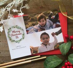 Merry Christmas/ Christmas Card/ Art Paper Scissors Glue