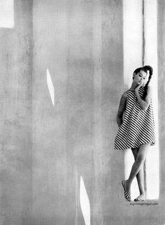 Saul Leiter photography, Model Simone D�Aillencourt, Harper�s Bazaar, January 1960.