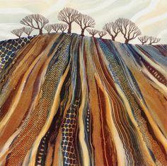 New painting fabric quilt fiber art Ideas Landscape Art Quilts, Abstract Landscape, Landscapes, Urban Landscape, Landscape Design, Doodle Drawing, Tree Quilt, Quilt Art, Art Courses
