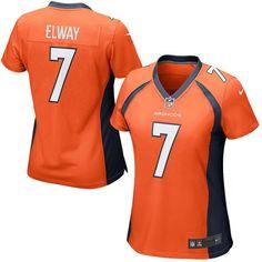 John Elway Denver Broncos Nike Women's Retired Game Jersey - Orange