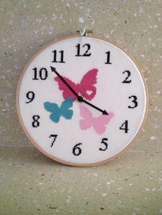 It actually works too. Butterflies from Kattuna (etsy) Cross Stitch Boarders, Butterfly Cross Stitch, Cross Stitch Love, Cross Stitch Designs, Cross Stitching, Cross Stitch Patterns, Embroidery Flowers Pattern, Embroidery Needles, Cross Stitch Embroidery