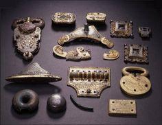Viking artifacts from Aker, Norway.