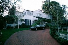 Natalie Wood and Robert Wagner's last family home together on North Canon Drive in Beverly Hills, California 1981