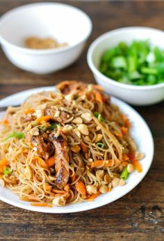 Hoisin Pork with Rice Noodles Recipe ~ Chinese Recipes (added chili sauce, brown sugar, no fish sauce, used cider vinegar)