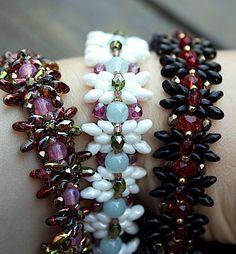 TUTORIAL  Miranda beadwoven bracelet with Super Duo by MadeByOlga, $10.00