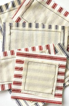 Ticking fabric labels #textile
