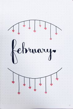Hello February another happy month of journaling