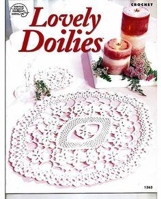 Lovely Doilies Crochet Pattern Book American school of