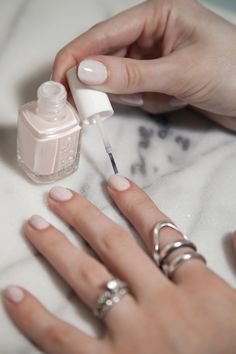 Looking for the perfect neutral nail polish that looks good with everything from black sweaters to neon prints? Head to Ulta Beauty to buy Essie's Ballet Slippers nail shade. This color is the perfect blend of sheer and creamy, pink and white!