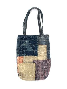 Kapital's totebag, patchwork & sashiko. Inspiration
