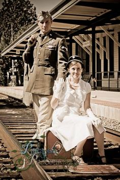 WWII vintage photo shoot by Kirsten.