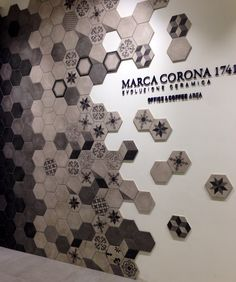 Floor Design, Tile Design, House Design, Home Interior Design, Interior And Exterior, Tile Showroom, Hexagon Tiles, Acoustic Panels, Wall Finishes
