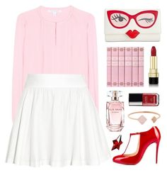"""""""Wink wink!"""" by celida-loves-pink ❤ liked on Polyvore featuring Diane Von Furstenberg, Kate Spade, Alice + Olivia, Christian Louboutin, Dolce&Gabbana, Michael Kors, Elie Saab, Chanel, Thierry Mugler and Pink"""