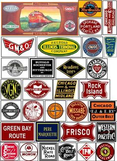 Signs and Graphics for your Model Railroad Vintage Tins, Vintage Labels, Advertising Signs, Vintage Advertisements, Locomotive, Model Trains, Toy Trains, Old Signs, Model Building