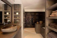 Luxury Villa in Caló den Real, Ibiza   Me encanta el microcemento en el baño