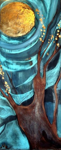 """Saatchi Online Artist: Mo Kelly; Mixed Media, Painting """"Golden Apples Of The Sun"""""""