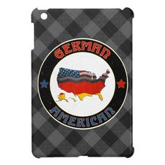 German American Map & Flags iPad Case, available to purchase at #Zazzle.com, items can be customized with your own text #germanamerican #germany #deutschland