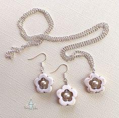 Custom White Flower Set by Penny Jules