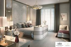 #Interior #Design #Home #Decorating #Decor #Bedroom #Modern #Lux LINLEY Interior Design has produced design options for the interiors of a series of penthouses and apartments at Knightsbridge Private Park.
