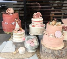 tartas buttercream paleteadas decoracion variada