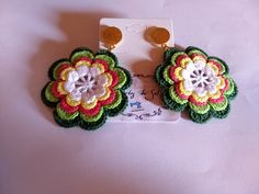 Diy Crafts Jewelry, Diy And Crafts, Handmade Jewelry, Crochet Earrings, Crochet Jewellery, Embroidery Neck Designs, Projects To Try, Crocheting, Beautiful