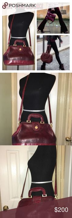 Vintage Burgundy Leather Purse Vintage Burgundy Leather Purse Vintage Bags