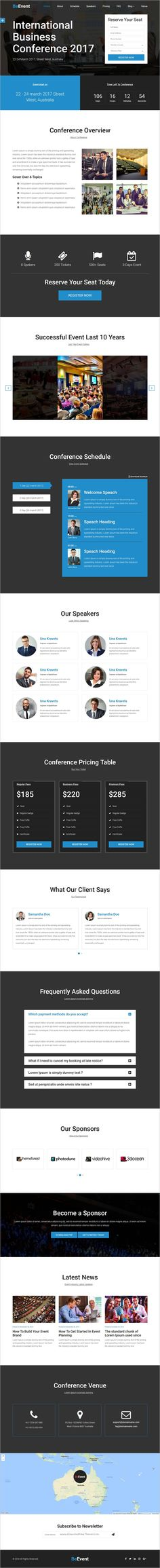 Live Event - Conference, Event \ Meetup PSD Template Live events - conference schedule template