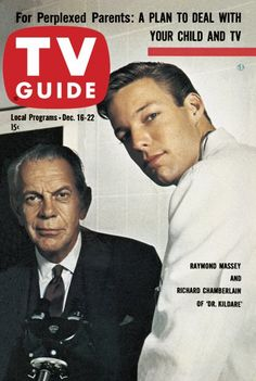 The history of television at your fingertips with the TV Guide Magazine Cover Archive - Covers from 1953 to today - including TV's biggest shows and stars like Lucy and John Wayne 1960s Tv Shows, Old Tv Shows, History Of Television, Vintage Television, Dr Kildare, Richard Chamberlain, Tv Doctors, Tv Show Games, The Thorn Birds