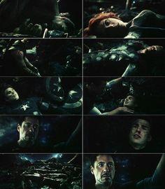 "Tony Stark's fear vision, ""Age of Ultron"" This scene broke my heart! I felt like crying! Tony was just so helpless"