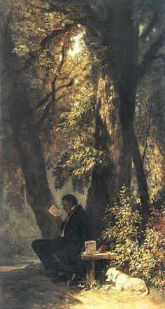 La place de favori, huile sur toile x - Carl Spitzweg Landscape Art, Landscape Paintings, Carl Spitzweg, Antoine Bourdelle, Renaissance Kunst, Arte Obscura, Beautiful Paintings, Aesthetic Art, Oeuvre D'art
