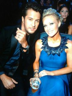 luke bryan and caroline - she's so glamorous! they're so cute together!