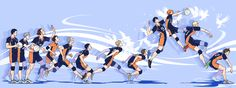 HQ - only wish I could serve like this. Haikyuu Karasuno, Kageyama Tobio, Haikyuu Fanart, Haikyuu Ships, Kagehina, Haikyuu Anime, Hinata, Dark Fantasy, Manga Anime