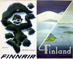 A few selected travel posters from Finland. via posterteam